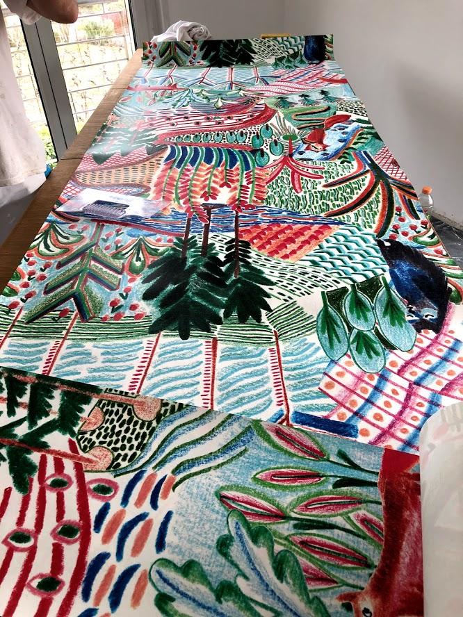 Papier-peint décoratif à raccords