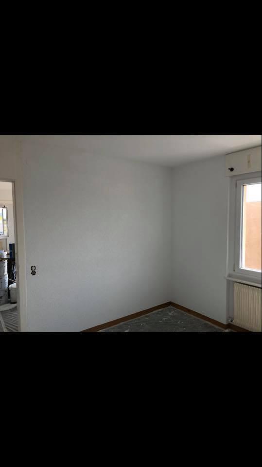 Plafond et murs terminés