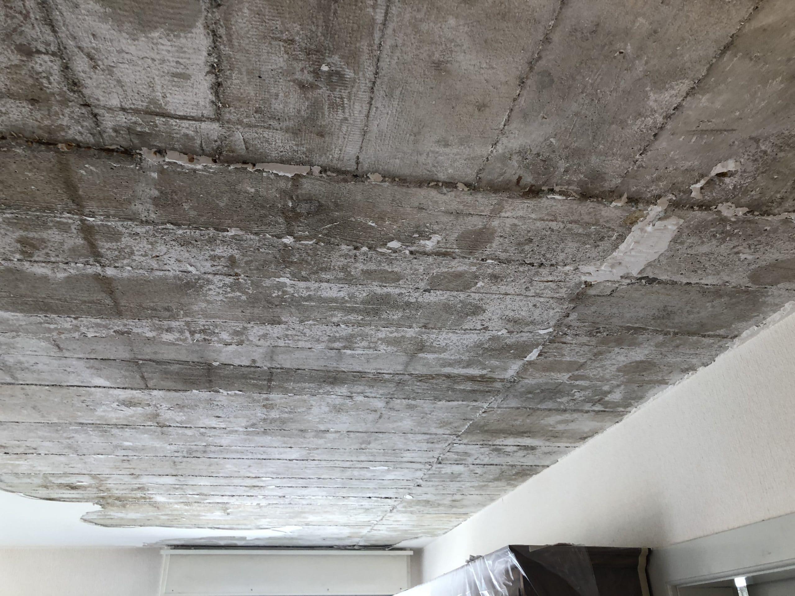 L'ensemble du plafond sera gratté