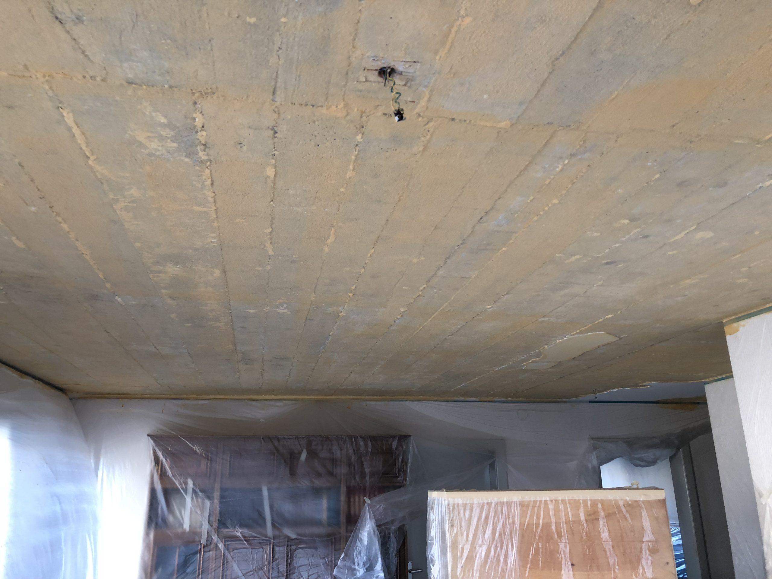 Le plafond est prêt à être gypsé