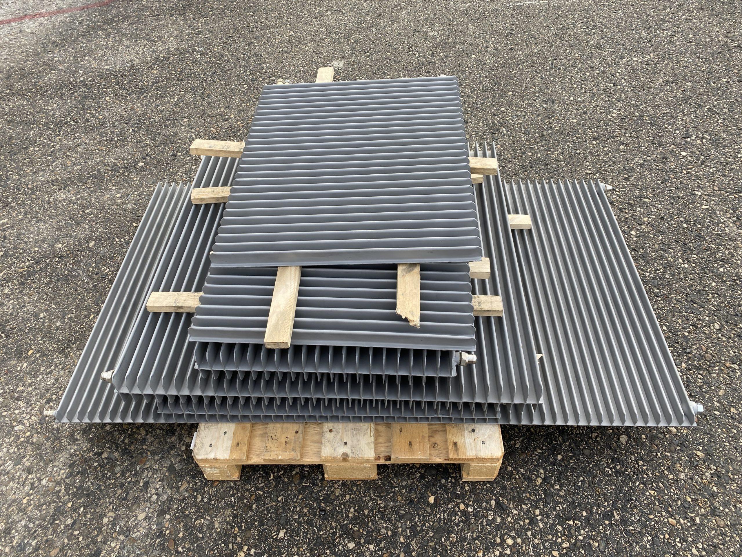 Sablage de radiateurs en acier par notre département sablage