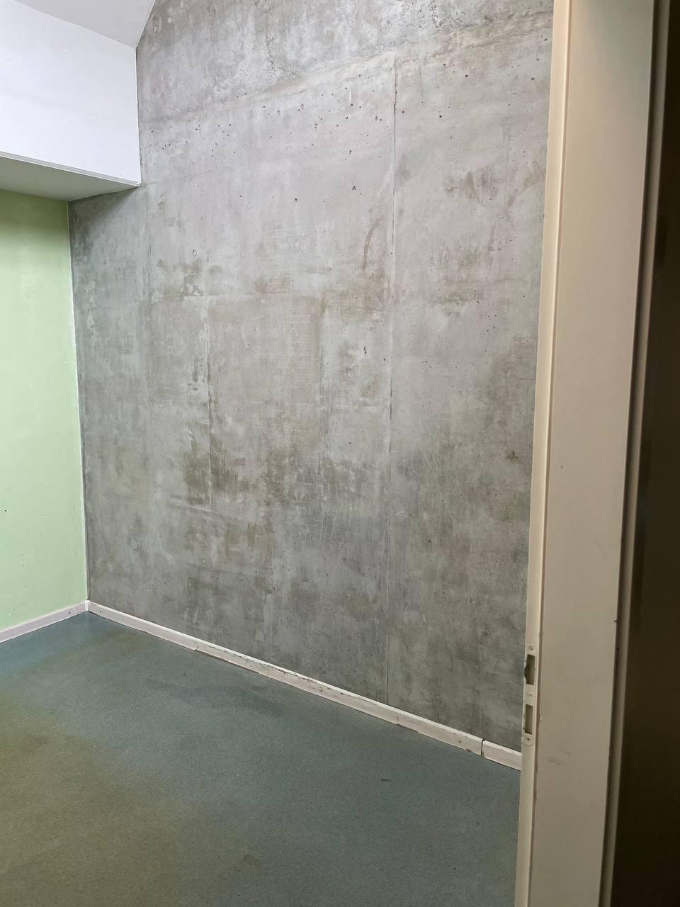 Travaux terminés, le mur béton retrouve son aspect d'origine
