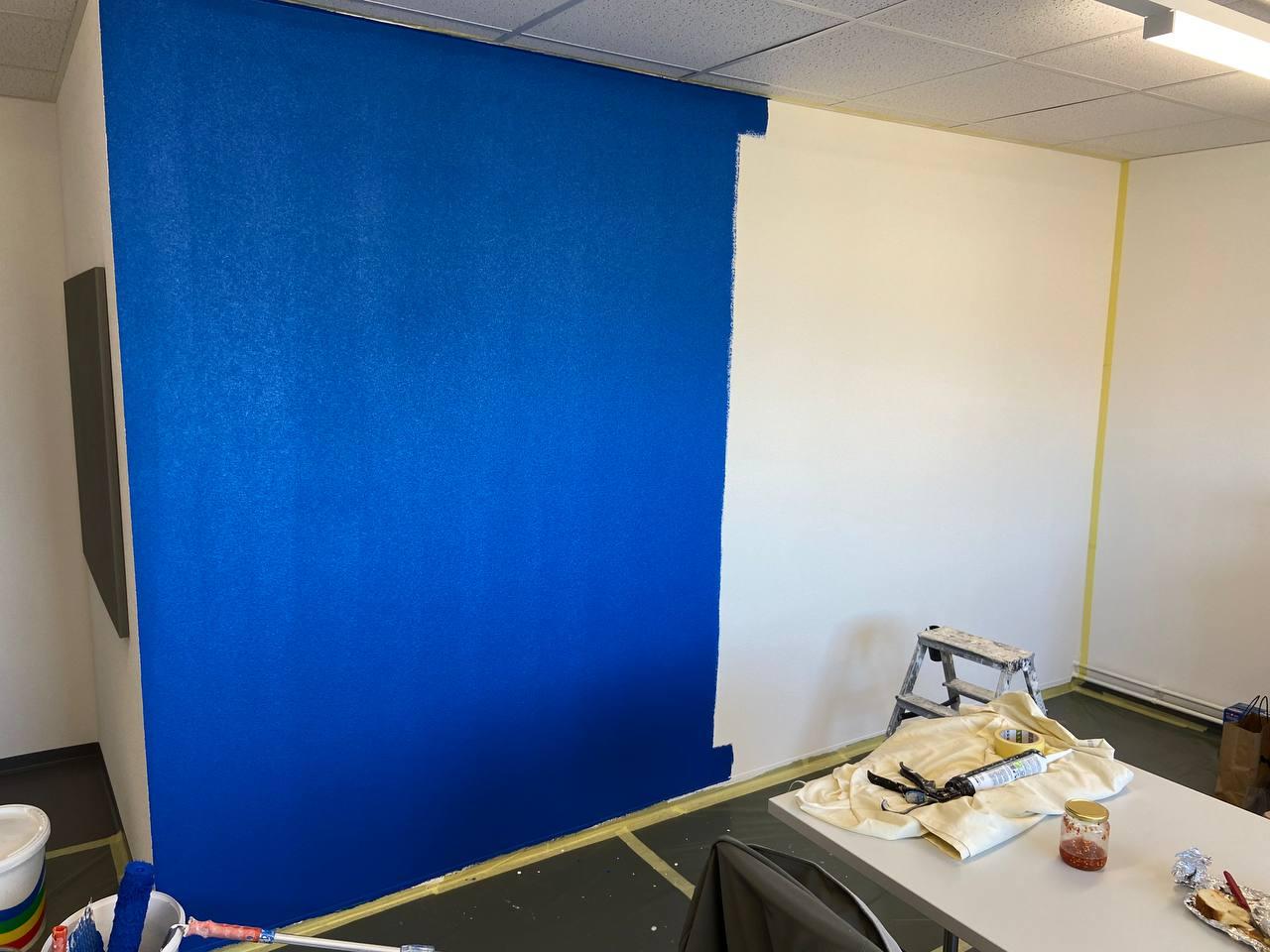 Application de le 1er couche de peinture